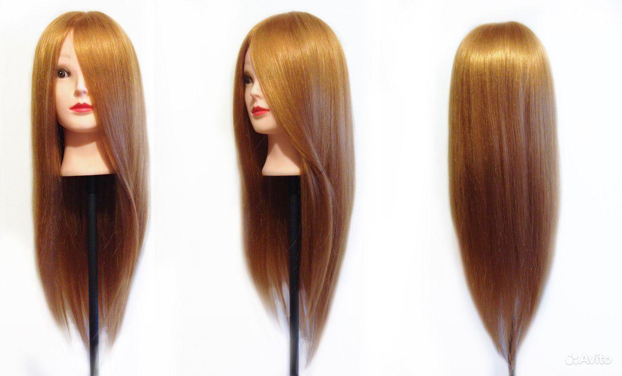 манекены для причесок с натуральными волосами