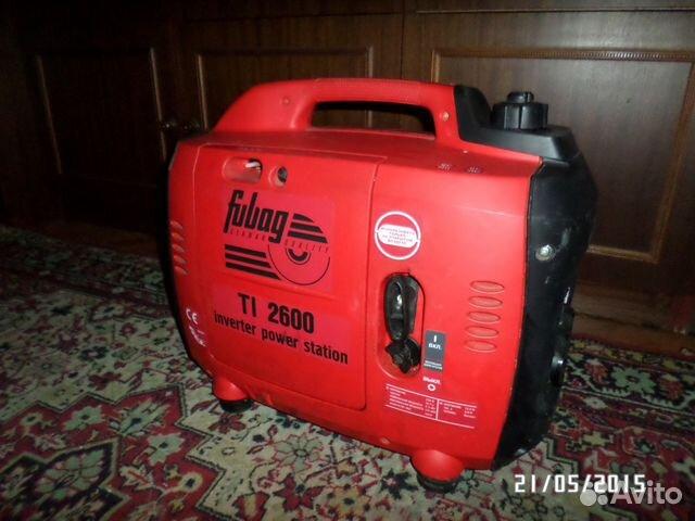 Генератор бензиновый инверторный fubag ti 2600 fubag