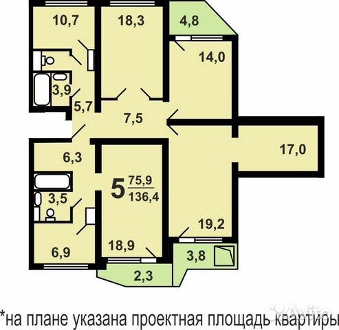 Продается 1-комнатная квартира в солнцевский проспект, 14