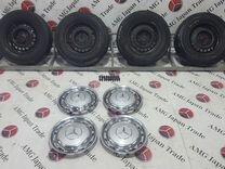 Комплект дисков+колпаки на Mercedes-Benz W123,W115