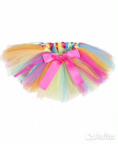 Разноцветная юбка пачка