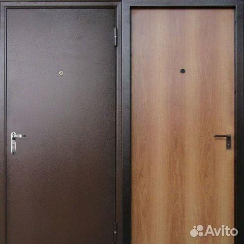 стальные двери ламинат эконом