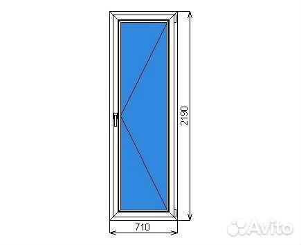 Готовая балконная пвх дверь 710 х 2190 мм festima.ru - монит.