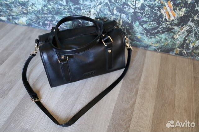 Чёрная кожаная сумка Mascotte   Festima.Ru - Мониторинг объявлений 0be635a0f03