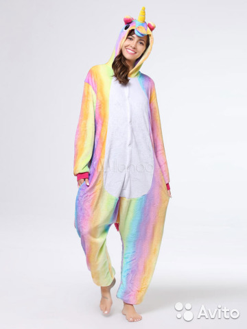 Пижама Кигуруми Радужный Единорог  139d45122d508