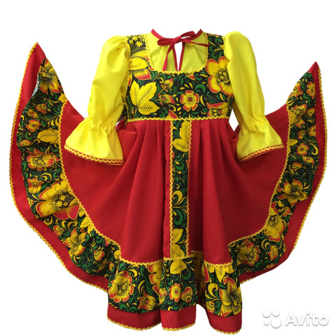 70a3372088d Сарафан русский народный на праздник Масленица