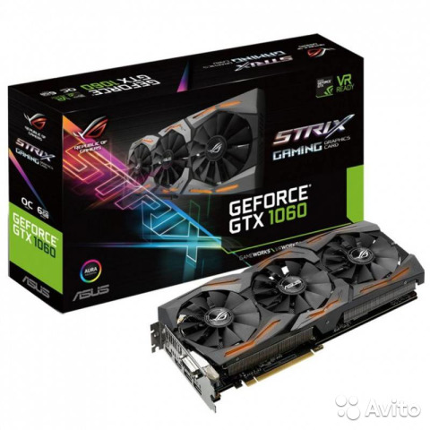 Asus GTX 1060 strix OC (strix-GTX1060-O6G-gaming)