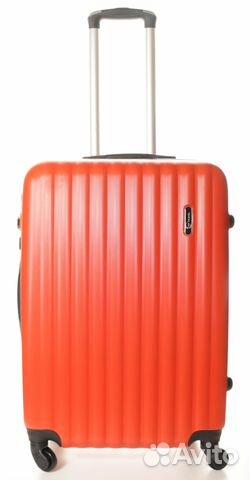 2a7c21f0d49a Чемодан пластиковый Top Travel Strips - red/black купить в Санкт ...
