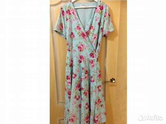 Мятное платье от российских дизайнеров р.52 купить в Нижегородской ... 94da4242e8e