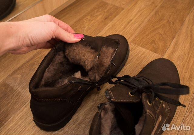 1bc065496 Зимние мужские ботинки, нубук, нат. мех, р.43, б/у купить в Санкт ...