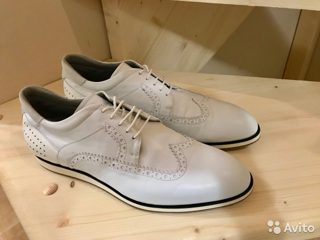 d89e59853 Мужские белые ботинки Cesare Paciotti 44размер б/у | Festima.Ru ...