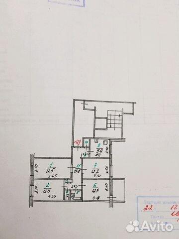 Продается четырехкомнатная квартира за 2 300 000 рублей. Орловская обл, г Мценск, ул Катукова, д 7.