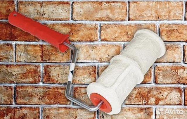Купить фактурный валик для бетона добавки бетоны строительные растворы