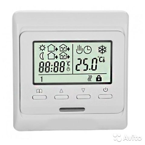 Терморегулятор комнатный/для теплого пола встраива 89139173804 купить 1