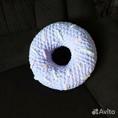 Подушка декоративная пончик ручная работа