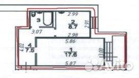 1-к квартира, 38 м², 2/3 эт. 89115112857 купить 6