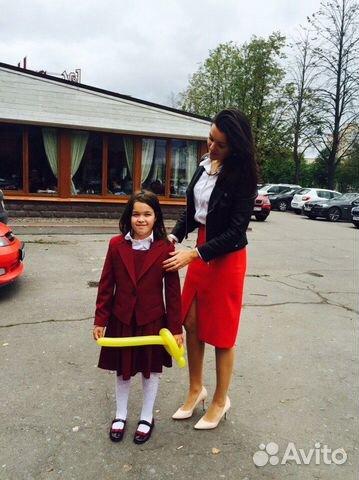 Школьный бордовый пиджак