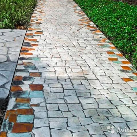 Форма для печатного бетона купить в красноярске огнестойкие бетоны