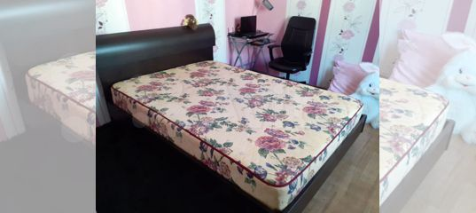 Кровать 2х спальная плюс тумба купить в Иркутской области   Товары для дома и дачи   Авито