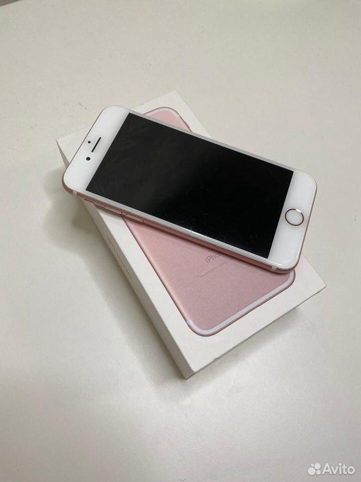 iPhone 7 (розовый) 128 GB в отличном состоянии  89002455392 купить 2