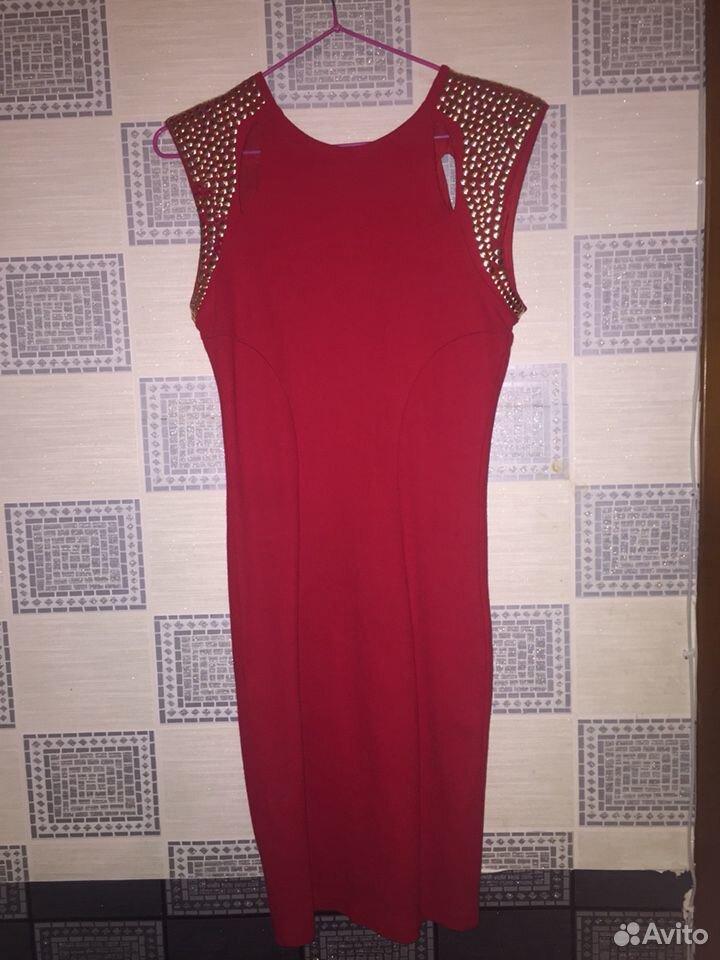 Платье оригинал красное