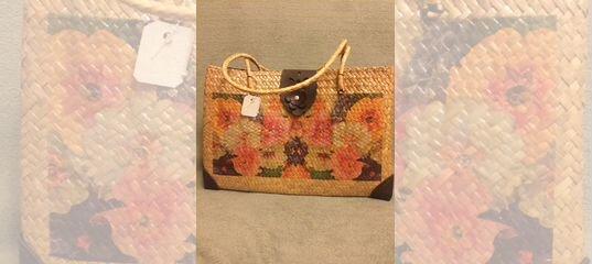 27d61bc3df54 Женская сумка (плетеная) купить в Москве на Avito — Объявления на сайте  Авито