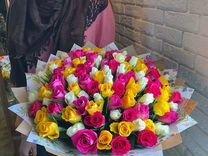 Букет из 101 розы цветы доставка по Перми
