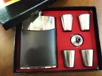 Подарочный набор (фляжка, 4 стопки,воронка)