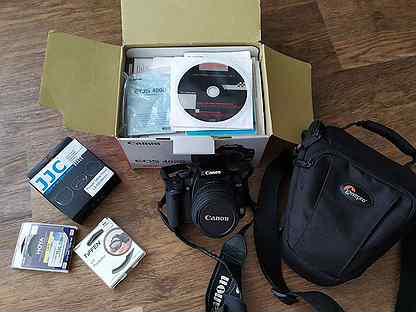 Фотоаппарат Canon 400d, объектив ef-s 18-55mm