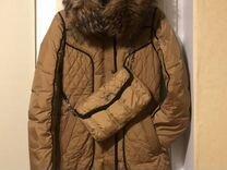 Пуховик с натуральным мехом — Одежда, обувь, аксессуары в Москве