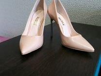 Туфли р.37-37.5. Цвет: бежево-розовый. Материал: э