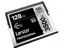 Карта CF Compact Flash Lexar 128gb (3500x)