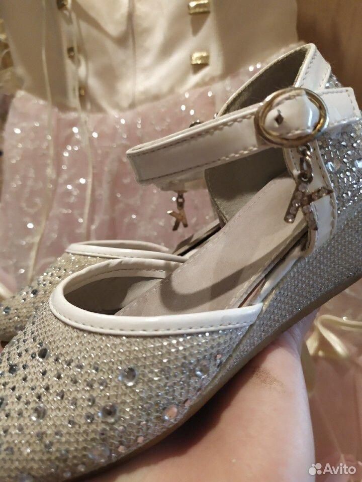 Красивейшее нарядное платье для принцессы+туфли  89854569556 купить 7