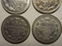 Монета 5 копеек 1909 05 г